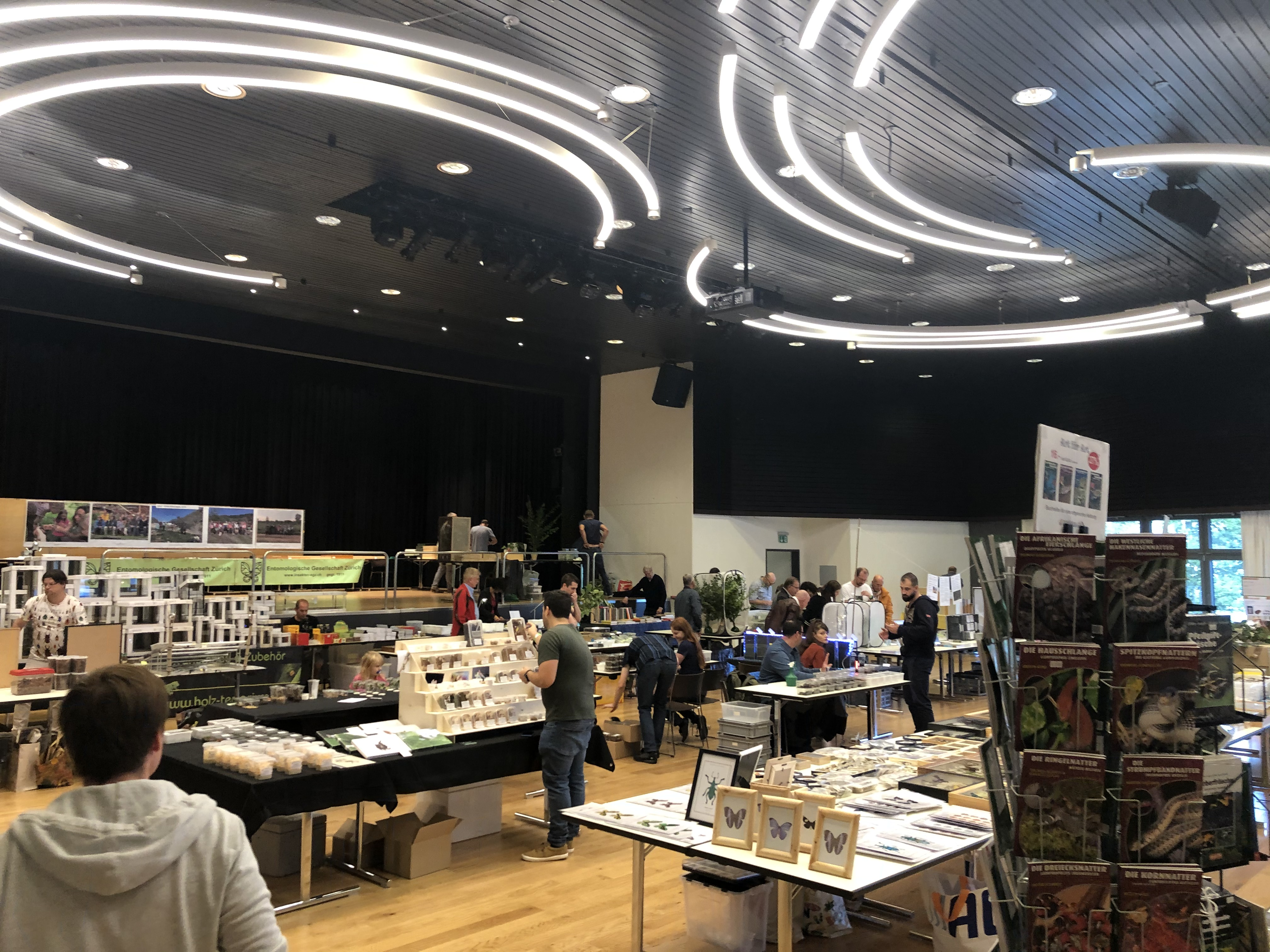 View of the insect fair in Kloten, Switzerland 2019